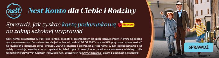 Karta podarunkowa do Biedronki za założenie konta w Nest Banku