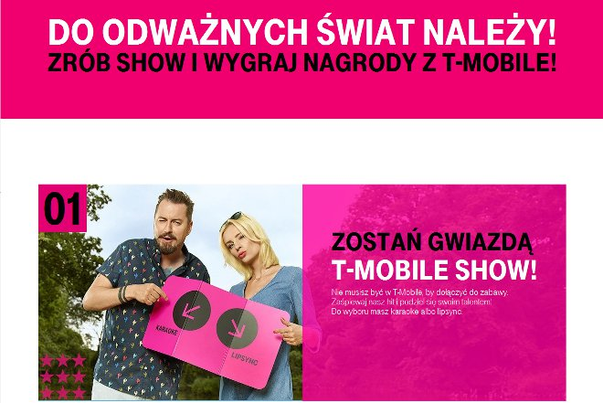 t-mobile show 2016 zostań gwiazdą reklamy