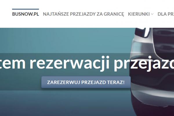 BusNow.pl przejazdy za granicę